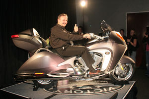 Mark Blackwell, President of Victory Motorcycles, can give us a sense of scale... relaxed and ready to ride.
