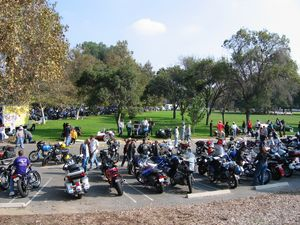 Upon first entering the area, you came upon a small herd of non-sidecar motorcycles, obviously several clubs and organizations had marked the date on their ride schedules.