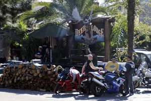 Just outside of Ojai on Maricopa Hwy (Hwy.33), the Deer Lodge welcomes road weary bikers with cold libations and wild game. They also serve drinks and food.