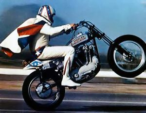Evel was careful not to use fringe on his capes.