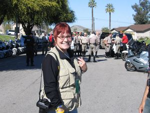 At the Redlands Classic, I was lucky enough to be assigned noted race photographer Sammarye Lewis, official photo-biographer for Lance Armstrong.