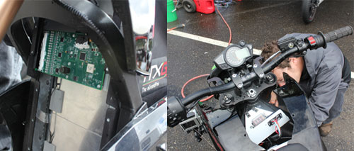 Electric Motorcycle Racing Water Repair