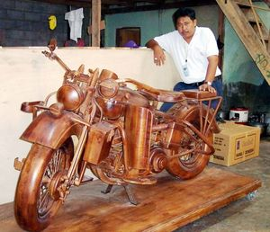 Scott Roussel carved a niche for himself, in the motorcycle collectibles scene.