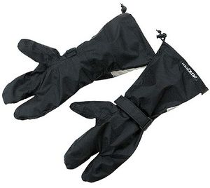 Aerostich's Triple Digit Rain Covers keep your gloves dry but are hard to put on and are tough to get used to.