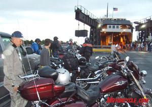 Bikes waiting to board the big, bad Badger.