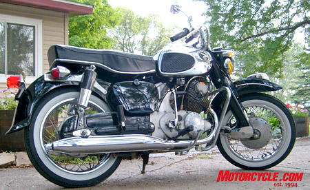 Dave Cunningham�s dream bike, a Honda �Dream Cruiser,� Model CA 78.