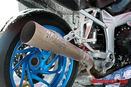 Remus built a custom exhaust system to fit the newly-turbocharged BMW.
