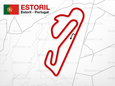 The Estoril circuit has the lowest average speed of all MotoGP tracks, but it offers a large contrast between fast and slow sections.
