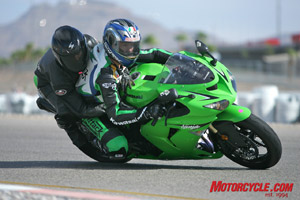 Those wanting to feel a bit of the pace of a Daytona 200 winner got to take some two-up laps with Attack Kawasaki rider Steve Rapp.