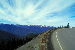 Highway 101 near Olympic National Park. (Photo courtesy Washington State Tourism)