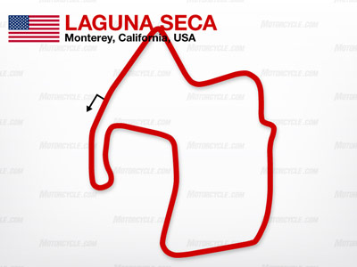 Casey Stoner holds the current track record at Laguna Seca with a lap time of 1:21.376.