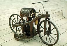 "Daimler's wooden-framed ""bone crusher"""