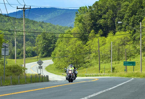 Riding at the MA, VT and NY border