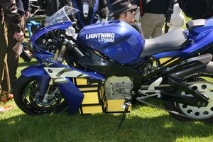 Battery powered sport bike that can do 100 mph