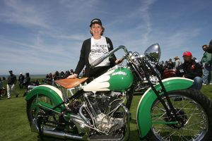 Judy Crocker Jones with Boozefighter Jack Lilly's 1939 Crocker