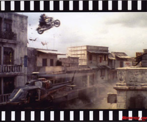 "Jean-Pierre Goy's famous stunt in the Bond flick, ""Tomorrow Never Dies."""