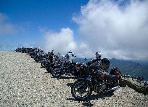 Ride to the Sky, the Mt. Washington auto road open only to motorcycles