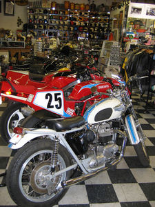 Garage Company offers wide selection vintage and classic motorcycles, parts and accessories, as well as custom old-school bobbers.