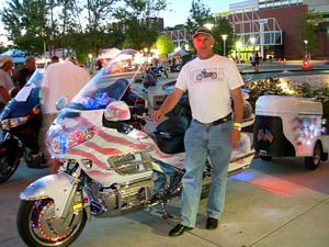 Peter Weidman and his patriotic Goldwing.