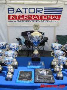 Trophies are awarded in a variety of categories at the 31st Annual Bator International El Camino show and swap that for 2006 attracted 100 show bikes and 220 vendors.