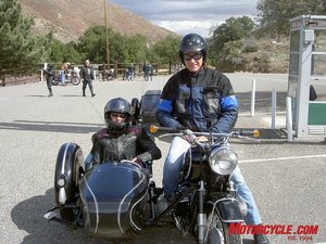 Glenn and Deni enjoy their 1965 R60 BMW sidecar combo.