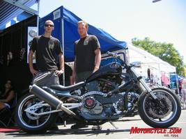 The 13 Choppers crew climbs aboard a 916 Ducati �power cruiser,� melding Bologna and American bobber in one fell swoop.