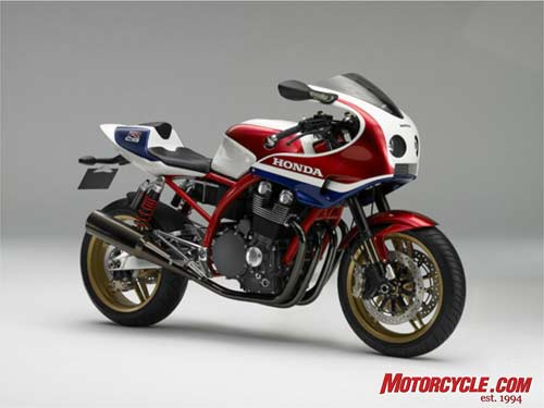 The CB1100R harks back to Honda�s old RC racers, using a traditional air-cooled inline-Four powerplant.