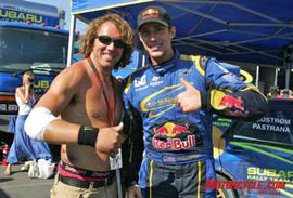 Freestyle sensation Scott Murray poses with X Games icon Travis Pastrana