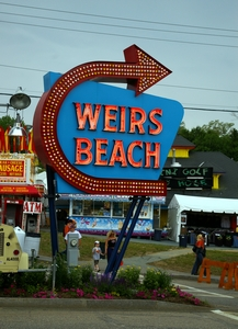 Center for Laconia Bike Week action is Weirs Beach.
