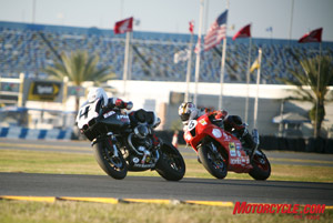 BMW Motorcycles of Atlanta was the only team to race a BMW in the SunTrust Moto-ST Daytona 300. The #4 R1200S placed sixth in the premier SST class. The HP2 version of the R1200S will compete in next weekend�s AMA Daytona 200.