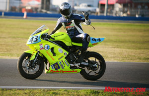 The Cycle Dynamics team placed first in the ST class with their Kawasaki Ninja 650, edging out the Pair-A-Nines Hall of Famer duo of Jay Springsteen and Jimmy Filice.