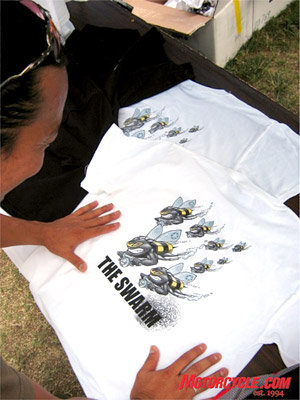 "Our vote for Best event T-shirt went to ""The Swarm."""