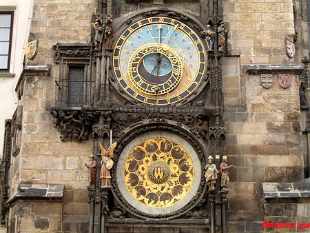 Give me a call if you do manage to read the hour on this one – I'm still trying to figure it out. The oldest functional city clock in the world was badly damaged during the Nazis retreat in WWII but was put back in order after a titanic restoration effort.