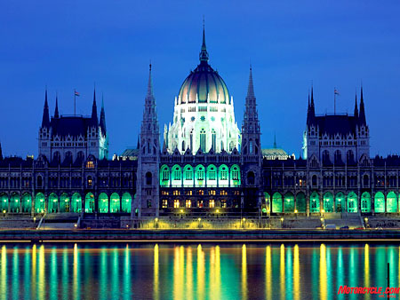Budapest's Parliament house is an impressive sight by day, even more so by night. The city is in UNESCO's Human Heritage sites list, while the wide and majestic Danube flowing below is Europe's second longest river at 1711 miles.