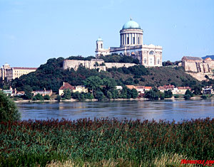 The mighty Danube River flows past Estergom.