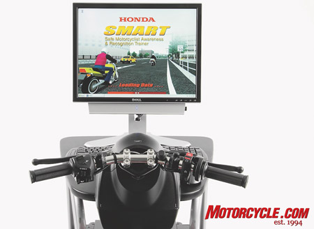 The Honda SMART, a first in traffic simulators exclusively for motorcycle training.