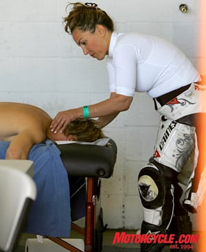 This will be the first time Kevin Duke�s wife sees this photo, and the last time he gets a massage.