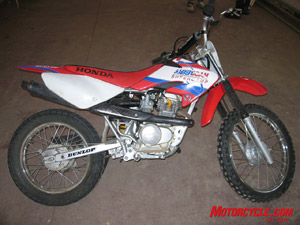 If the mighty 7-horsepower Honda CRF100F was a pirate it would be named Cap'n Flog.