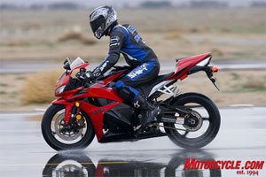 Riding in adverse conditions takes more caution and focus on a motorcycle than in a car.