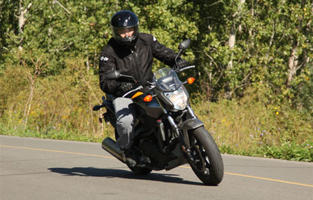 2013 Honda NC700S Right Turn