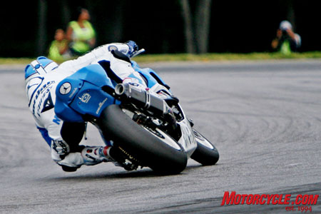 For a road racer it's one season, one race, one lap, one corner at a time.