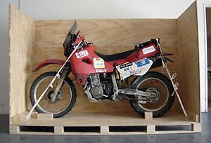 Motorcycle Shipping Crate