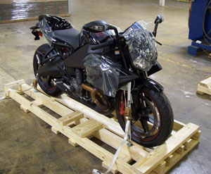 Motorcycle on Pallet