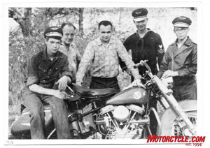 The Davis Clan (left to right) Bob's brother Jim, his Dad, Bob himself, brother Walt and brother Joe circa 1956.