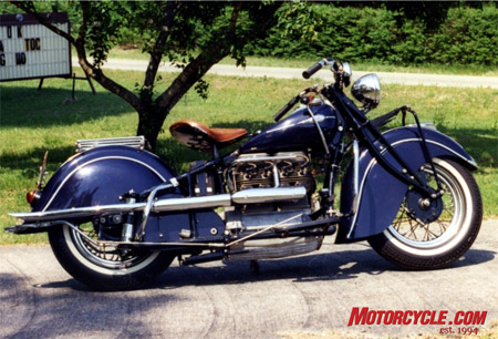 1941 Indian 4 meticulously restored by Bob and now in the Ed Dacus Collection.