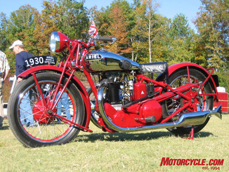 Bob's 1930 Ariel 500cc Model G Special, one of only three G Specials known to exist.
