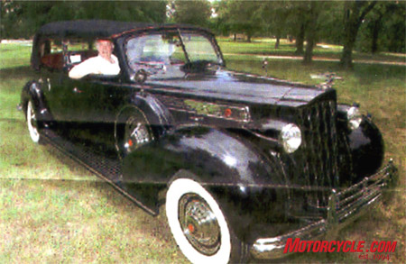 1939 Packard, once the favorite car of Evan Peron, was a 5-year project, Bob hand-fabricating all the body panels.