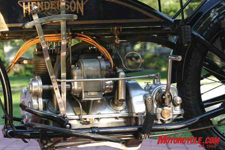 The engine received a few upgrades such as a balanced crankshaft, modern J&E pistons and chamfered piston rods for improved oiling, but it remains largely the same as it did in 1917.