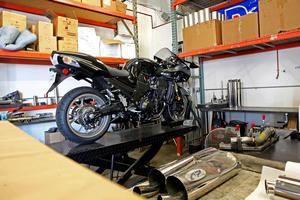 Area P is developing a full-length exhaust system for the ZX-14. This system is being designed for an exhaust manufacturer, but Kerry was tight-lipped about who it is.