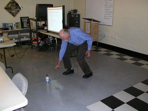 Student -- and MO subscriber -- Frank Snively practicing one of Lee's excercises.